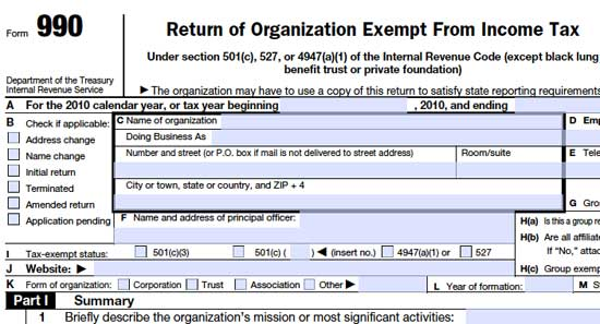IRS Releases Nine Tax Forms Of Nonprofits In Computer-Readable Format