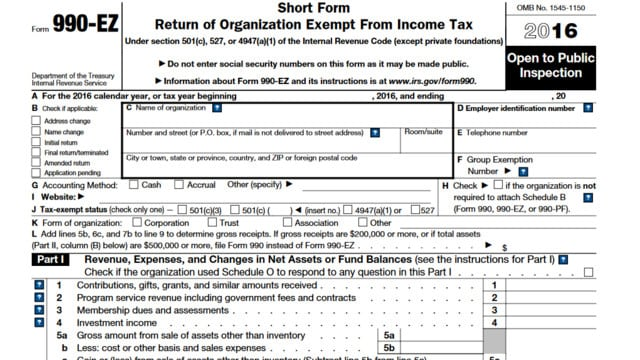 What Is Form 990-EZ?