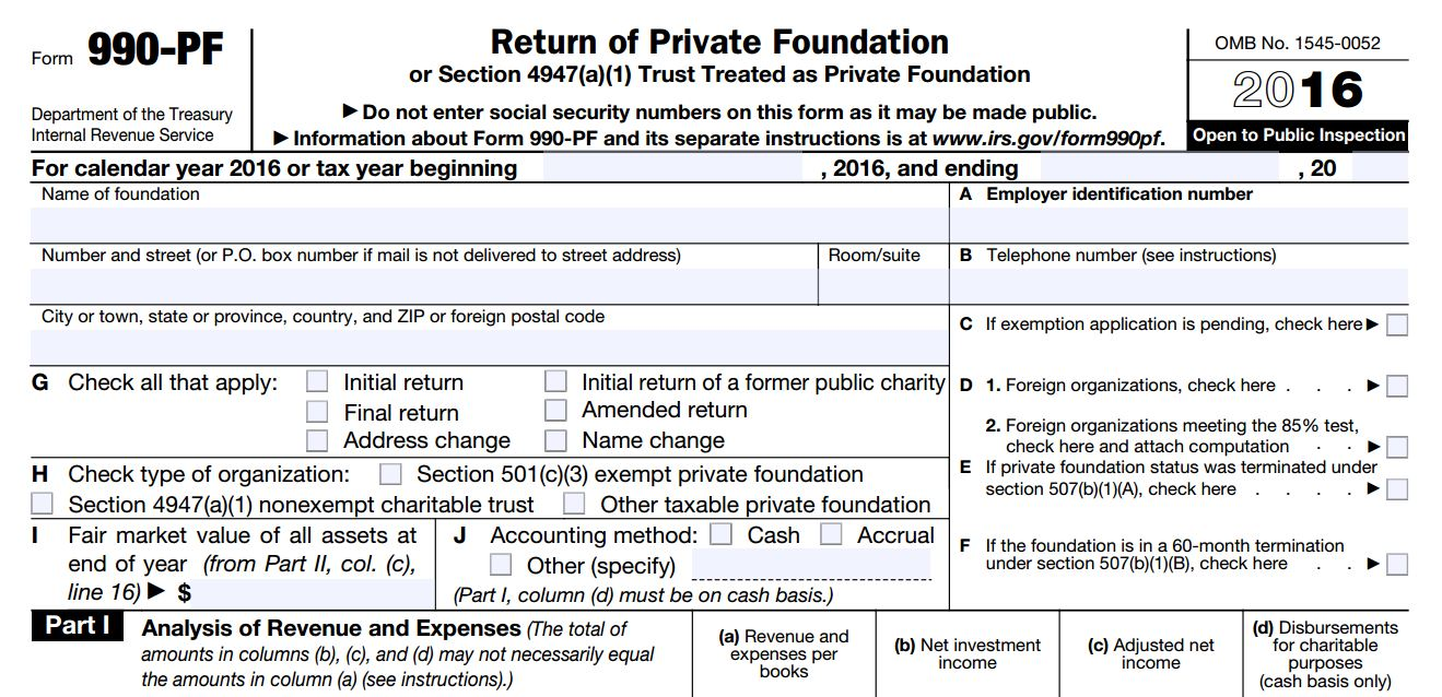 What Is Irs Form 990 Pf Foundation Group