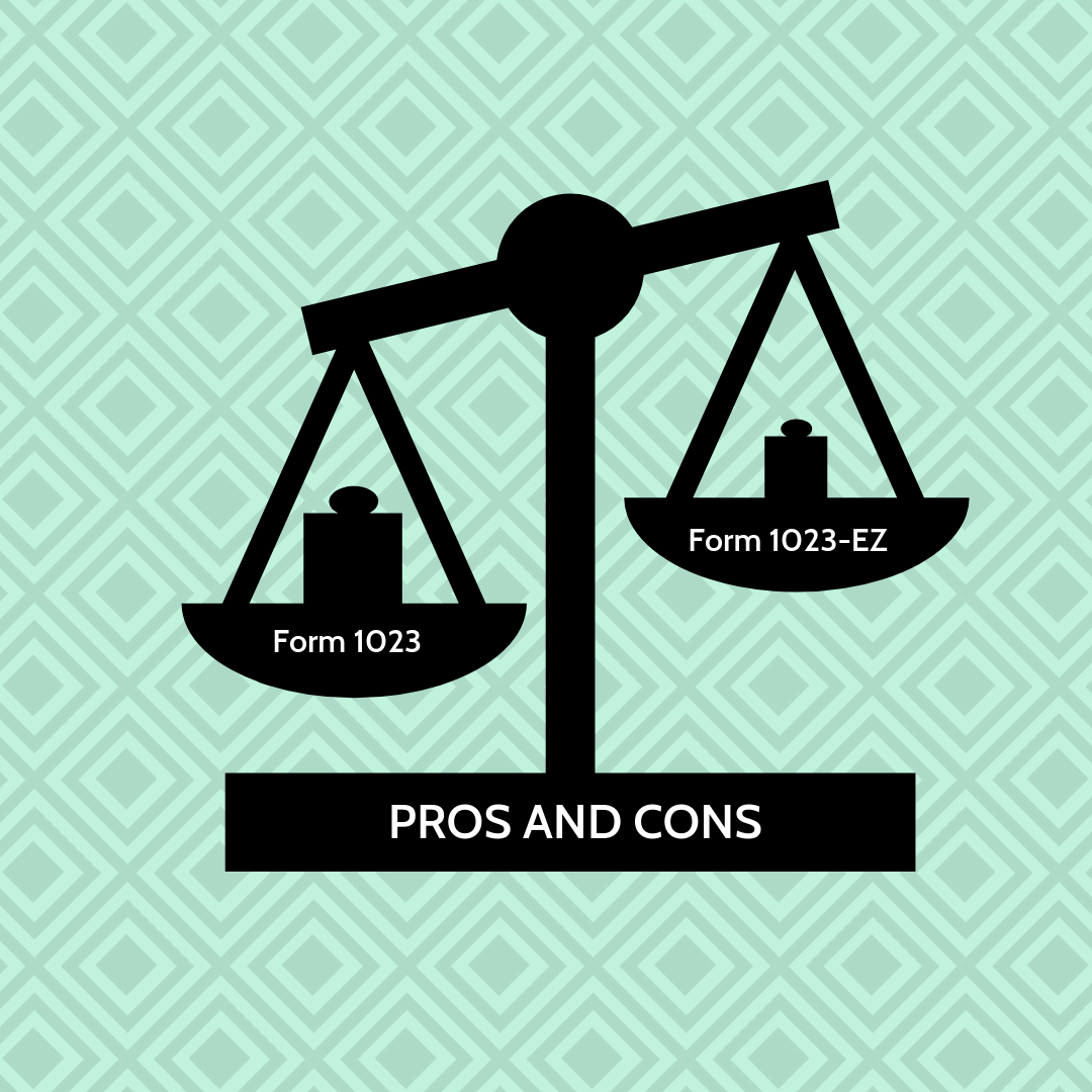 form 1023-ez pros and cons