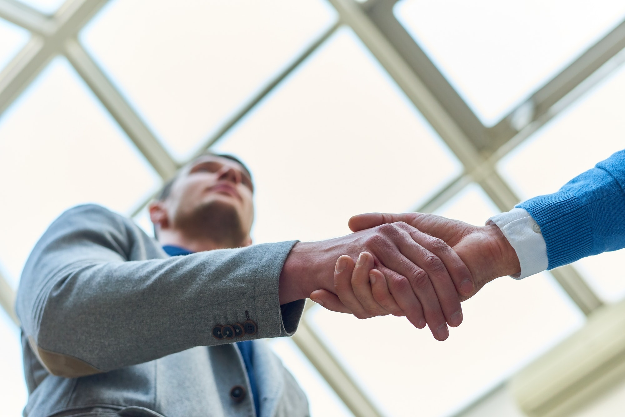 Business Handshake Low Angle