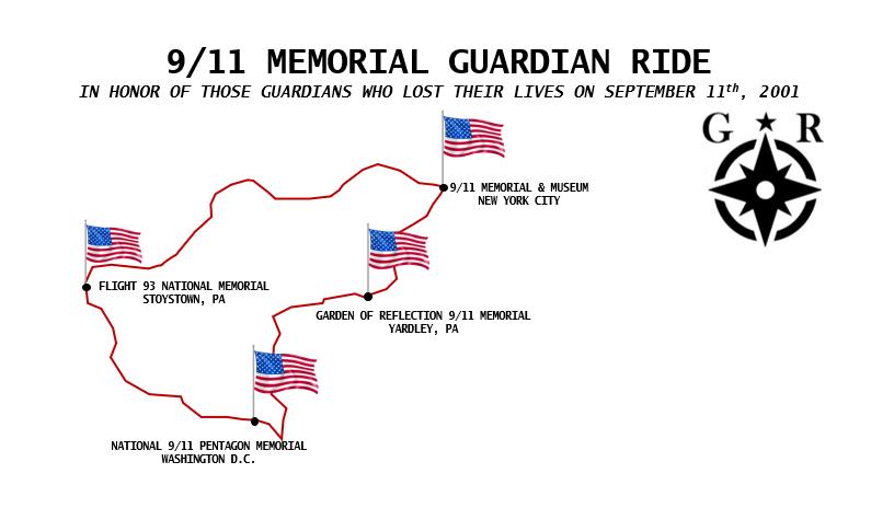 Guardian Revival Memorial Ride Route